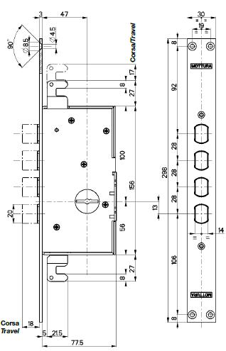 Serratura porta blindata mottura triplice infilare for Torterolo porte blindate scheda tecnica
