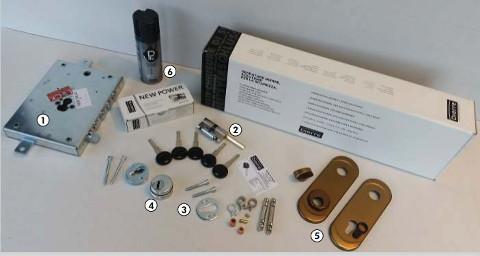 Kit per trasformare serratura DIERRE in cilindro europeo