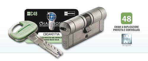 Cilindro europeo mottura sicurezza champions c48 31 51 - Cilindro europeo cisa 5 chiavi ...